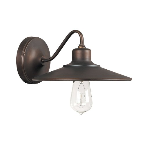 Burnished Bronze Lamp Wall (Capital Lighting 4191BB Urban 1-Light Wall Sconce, Burnished Bronze Finish)