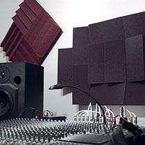 The Auralex D36 Designer Series Roominator Kit used in a recording studio