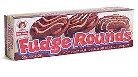 Little Debbie Snacks Fudge Rounds, 8-Count Box (CASE of 16 boxes)