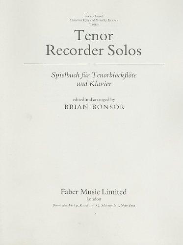 Tenor Recorder Solos: Parts (Faber Edition)