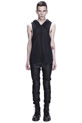Unisex Dual Layer Draped Hooded Tank Top by Corvus + Crux