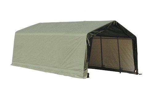 ShelterLogic 73432 Grey 12'x20'x10′ Peak Style Shelter
