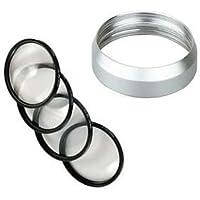 MACRO Close UP Lens 4 Filter Kit +Ring for Panasonic DMC-LX7 Leica D-Lux6 bundle