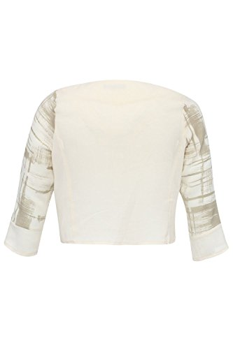 Blee Klum VOLIN - Giacca da donna con stampe, 100% cotone, taglia large (46, Ecrue)