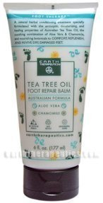 Tea Tree Foot Cream (Earth Therapeutics Tea Tree Oil Foot Balm ~6 Oz - Pack Of 1)