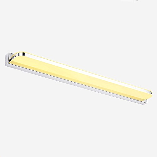 SJUN 720Mm Largo Led Aplique Para Espejo De Baño Lamparas 110V / 220V De 16W Pared Lámparas De Barra Dormitorio Borde Redondo,Blanco Cálido: Amazon.es: ...