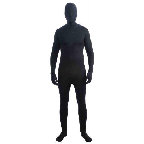 Forum Im Invisible Unisex Bodysuit, Black, X-Large Costume