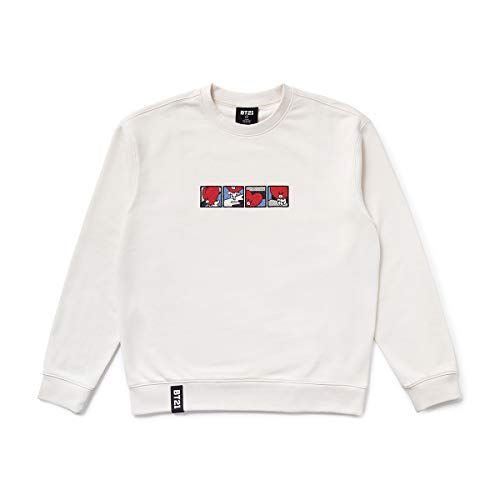 BT21 Official Merchandise by Line Friends - TATA Character Long Sleeve Tshirt Crew Neck Knit Tee Shirt, Large, -