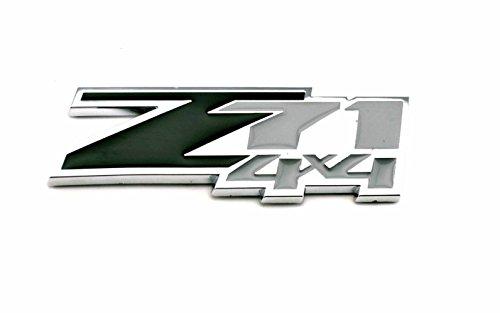 - Black and Silver Color 3D z71 4x4 Emblem Badge ABS Logo Sticker For Chevrolet Chevy Silverado Sierra 2pcs/set