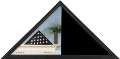 Pinnacle Frames & Accents Wood Flag Display Case Box, 16