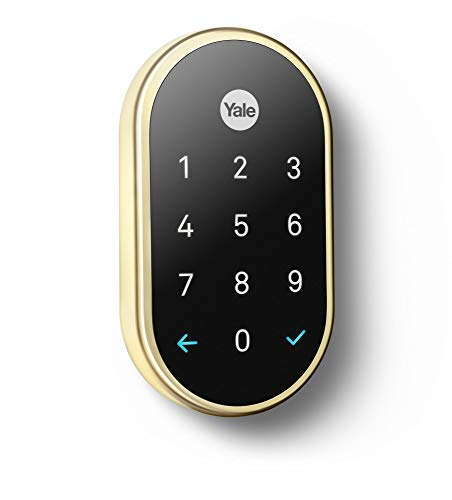 Google, RB-YRD540-WV-605, Nest x Yale Lock with Nest Connect, Smart Lock, Polished Brass (All Nest Products)
