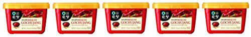 Chung Jung One Sunchang Hot Pepper ofZCAc Paste Gold (Gochujang) 5Pack (500g) (500 Pepper Hot)