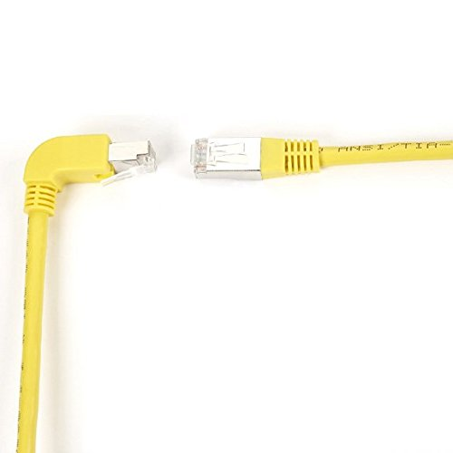 15FT YL CAT6 250MHz ANG Patch Cable S//FTP CM Down-Straight