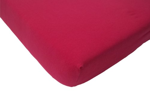 Jollein Fitted Sheet Interlock Double Jersey (75 x 150 cm, Pink)