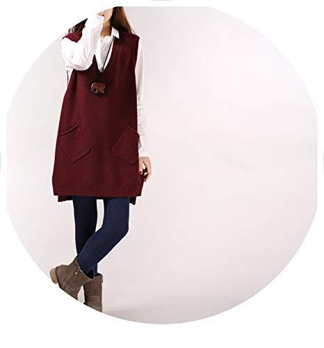 - Wool Cardigan Sleeveless Blazer Collar 2019 Spring Autumn Long Vest Waistcoat Longline Jacket Pocket Coat,Brown,One Size