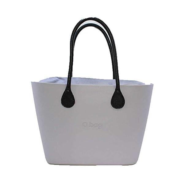 OBAG Borsa o bag urban lily grey sacca interna manico lungo b/color nero 1