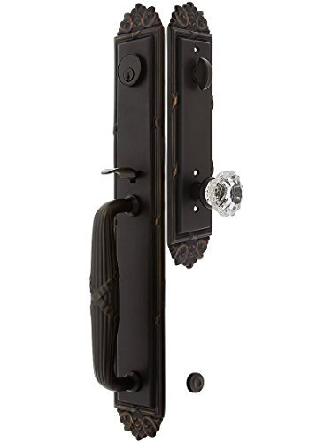 Crystal Clear Astoria (Imperial Style Tubular Handleset in Oil Rubbed Bronze with Astoria Knobs and 2 3/4