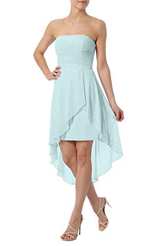 Cocktailkleider Damen Kurz lo Hi Partykleider Hell Promkleider Chiffon Charmant Elegant Rosa Festlich Blau X6wqpwHO