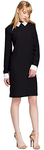 Victoria Beckham Women's Shift Dress with Bunny Collar (Medium, Black)
