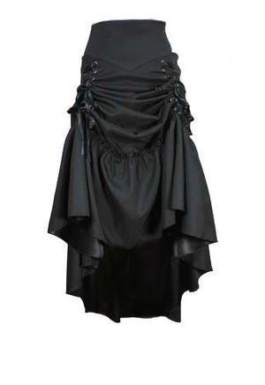 Wine Red - 3 Ways Frieda Long Sateen Corset Skirt - Size 8 by DangerousFX (Image #3)