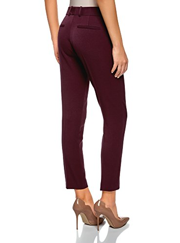 Pantalones Con Rojo Mujer 4900n Clásicos Oodji Ultra Bolsillos w7OqnCE