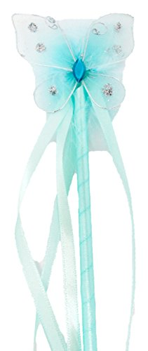 Hairbows Unlimited Girls Butterfly Princess Dress-up Wand Fairy Costume Halloween Idea (Aqua) (Halloween Dress Up Ideas For Babies)