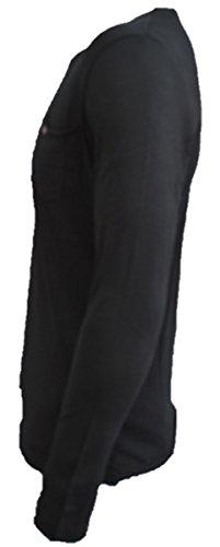 Brandneu !!! Designer Longsleeve T-Shirt von CARISMA in Schwarz oildyed CRM3500