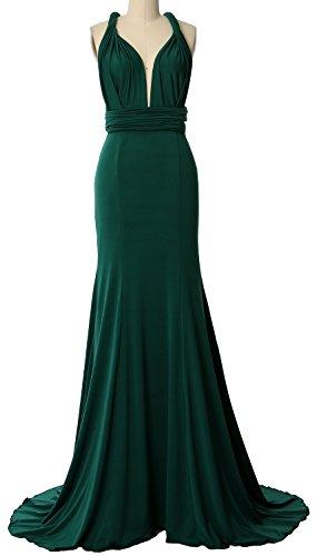 Way Formal Bridesmaid Dress Dunkelgrun Convertible Maxi Multi MACloth Evening Gown Wrap 8qxt1nwa