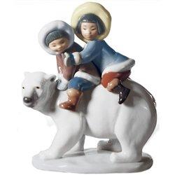 Lladro Eskimo Riders Porcelain Figurine by Lladro