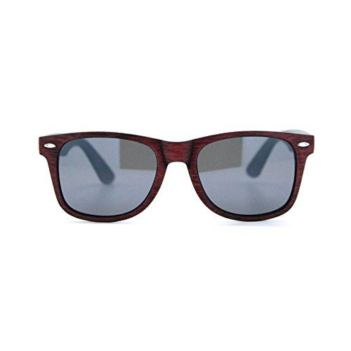Modello Marca Mont Isurf Vintage Legno Wayfarer Lente Nera Eyewear Old Da Effetto Sole Street 2017 Invecchiato Occhiali Rossa wIwSfAqX