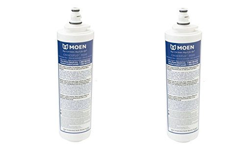 (Moen 9601 ChoiceFlo Replacement Water Filter Compatible with Sip Filtered Kitchen Faucets (Pack of)