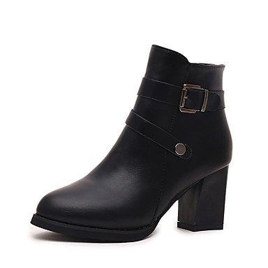 Heart&M Mujer Zapatos PU Otoño Invierno Botas de Moda Botas hasta el Tobillo Botas de Combate Botas Botines Hasta el Tobillo Para Casual Vestido red