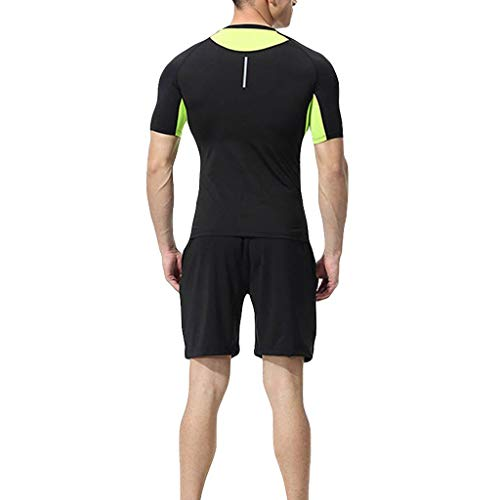 Sunnywill Collant Workout Sport Vert2 Shirt Vêtements Cyclisme Séchage Rapide 2 Fitness Tenue Homme Pour Pièces Avec Ensemble Short Sportswear Jogging De Running Football Compression rXazrqw