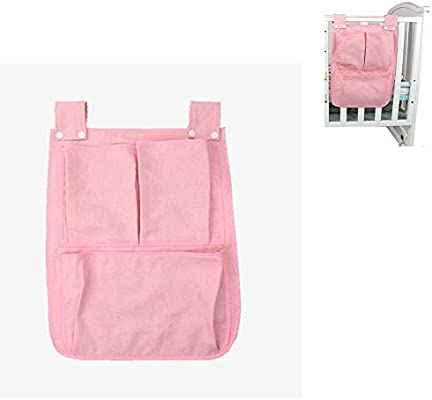Bedside storage!(red) double bed Practical hanging storage bag,Suitable Dormitory SiyuXinyi Pockets Bedside Storage Bag Caddy Hanging Diaper Organization for Baby Essentials Hang on Crib