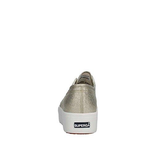 SUPERGA niedrige S009TC0 Plattform Turnschuhe Schuhe 340 2790 LAMEW Platinum