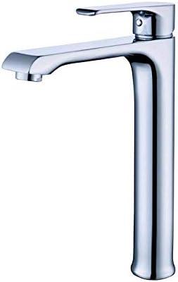 YKJ-YKJ バスルームのシンクは、スロット付き浴室の洗面台のシンクホットコールドタップミキサー流域の真鍮シンクミキサータップ流域の蛇口高めるカウンター洗面蛇口単穴ホットとコールド浴室の蛇口をタップ 蛇口