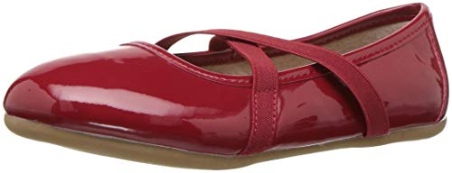 Livie & Luca Girls' Aurora Ballet Flat, Ruby, 13 Medium US Little Kid