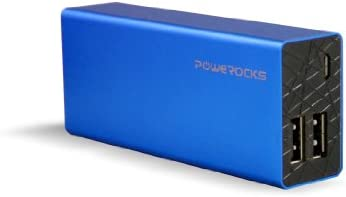 Powerocks Rose Stone 6000mAh Universal Extended Battery - Blue