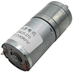LF_FFa 1pc Gear Motor 25GA370 6V 12V 24V Reversible rotación DC Motores de Velocidad Variable 12/16/26/35/60/130/280/620 / 1360RPM (Color : 16rpm, tamaño : 24V)