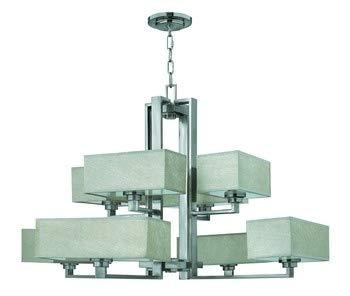 Fredrick Ramond FR49458BNI, Quattro 2 Tier Chandelier Lighting, 600 Watts, Brushed - Metal Chandelier Fredrick Ramond
