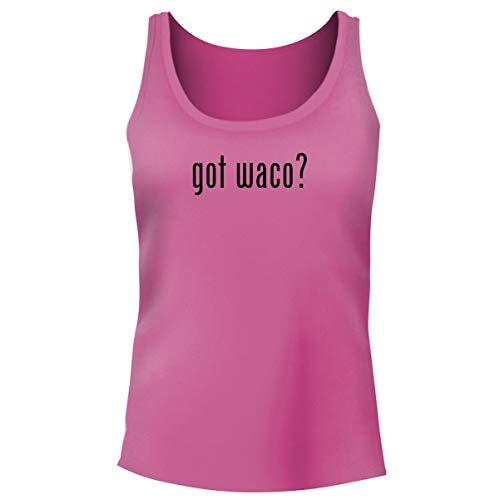 One Legging it Around got waco? - Women's Funny Soft Tank Top, Pink, Small