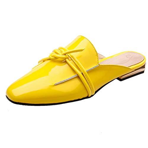 Gelb Destalonada de Piel Lackleder Mujer JYshoes Lisa w80XpSXq