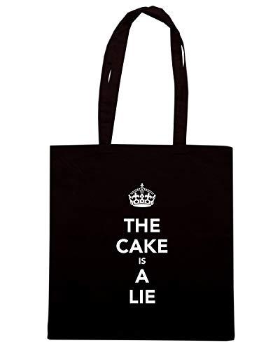 Shopper Nera LIE Speed Shirt Borsa IS THE TKC1407 A CAKE tqWBEWS