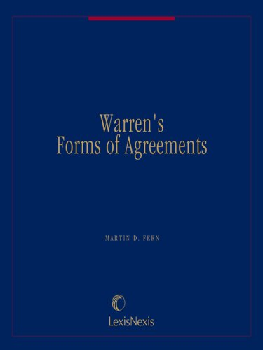 Warren's Forms of Agreements Volume 4 (English Edition)