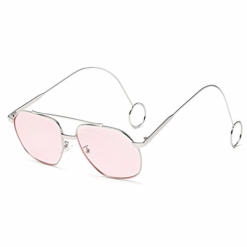 Intellectuality personnalité transparente Miroir Plat Lunettes Metal Earring Women's Silverbox poudre 4qBUw4nr