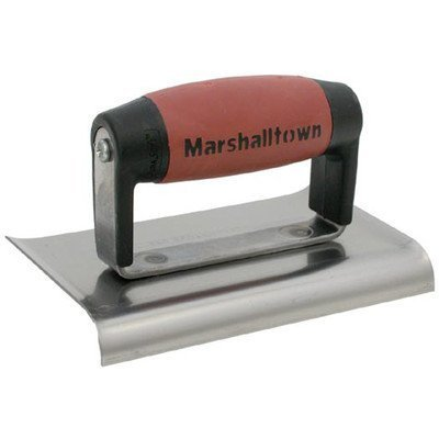 MARSHALLTOWN The Premier Line 138SSD 6-Inch by 4-Inch Stainless Steel Edger-Curved Ends 1/2-Inch Radius, 5/8-Inch Lip-Dura Soft Handle by MARSHALLTOWN The Premier Line