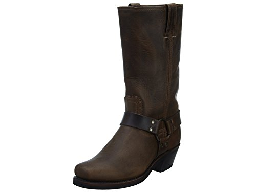 FRYE Women's Harness 12R Boot, Tan Crazy Horse, 9 M US