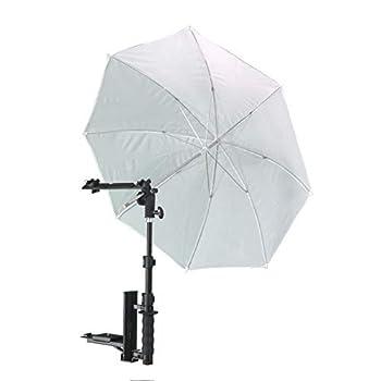 Image of Shoe Mount Flashes Alzo Flip Flash Bracket Umbrella Kit with H-Bar (Black)- for All Dslrs