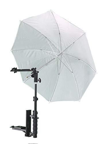 Alzo Flip Flash Bracket Umbrella Kit with H-Bar (Black)- for All Dslrs