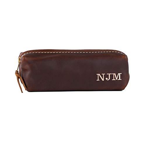 Personalized Mini Dopp Kit Bag, Small Leather Toiletry Bag with Monogram, Shave Bag, Miniature Dopp Kit Bag
